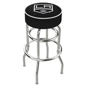 L7C1 - 4 Los Angeles Kings Cushion Seat with Double-Ring Chrome Base Swivel Bar Stool by Holland Bar Stool Company