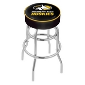 L7C1 - 4 Michigan Tech Cushion Seat with Double-Ring Chrome Base Swivel Bar Stool by Holland Bar Stool Company
