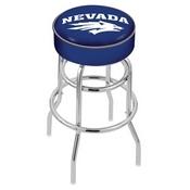 L7C1 - 4 Nevada Cushion Seat with Double-Ring Chrome Base Swivel Bar Stool by Holland Bar Stool Company