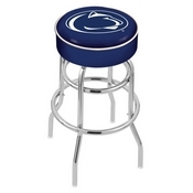L7C1 - 4 Penn State Cushion Seat with Double-Ring Chrome Base Swivel Bar Stool by Holland Bar Stool Company