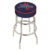 L7C1 - 4 Tulsa Cushion Seat with Double-Ring Chrome Base Swivel Bar Stool by Holland Bar Stool Company