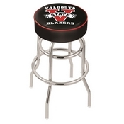 L7C1 - 4 Valdosta State Cushion Seat with Double-Ring Chrome Base Swivel Bar Stool by Holland Bar Stool Company