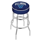 L7C1 - 4 Villanova Cushion Seat with Double-Ring Chrome Base Swivel Bar Stool by Holland Bar Stool Company