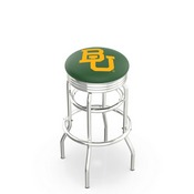L7C3C - Chrome Double Ring Baylor Swivel Bar Stool with 2.5 Ribbed Accent Ring by Holland Bar Stool Company