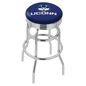 L7C3C - Chrome Double Ring Connecticut Swivel Bar Stool with 2.5 Ribbed Accent Ring by Holland Bar Stool Company