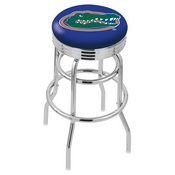 L7C3C - Chrome Double Ring Florida Swivel Bar Stool with 2.5 Ribbed Accent Ring by Holland Bar Stool Company