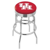 L7C3C - Chrome Double Ring Houston Swivel Bar Stool with 2.5 Ribbed Accent Ring by Holland Bar Stool Company