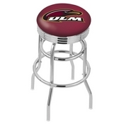L7C3C - Chrome Double Ring Louisiana-Monroe Swivel Bar Stool with 2.5 Ribbed Accent Ring by Holland Bar Stool Company