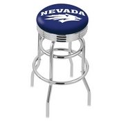 L7C3C - Chrome Double Ring Nevada Swivel Bar Stool with 2.5 Ribbed Accent Ring by Holland Bar Stool Company