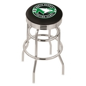 L7C3C - Chrome Double Ring North Dakota Swivel Bar Stool with 2.5 Ribbed Accent Ring by Holland Bar Stool Company