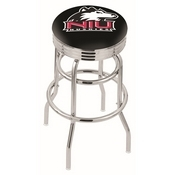 L7C3C - Chrome Double Ring Northern Illinois Swivel Bar Stool with 2.5 Ribbed Accent Ring by Holland Bar Stool Company