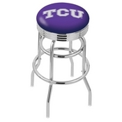 L7C3C - Chrome Double Ring TCU Swivel Bar Stool with 2.5 Ribbed Accent Ring by Holland Bar Stool Company