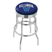 L7C3C - Chrome Double Ring Villanova Swivel Bar Stool with 2.5 Ribbed Accent Ring by Holland Bar Stool Company
