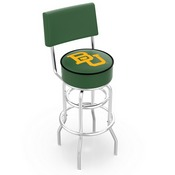 L7C4 - Chrome Double Ring Baylor Swivel Bar Stool with a Back by Holland Bar Stool Company