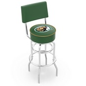 L7C4 - Chrome Double Ring Bemidji State Swivel Bar Stool with a Back by Holland Bar Stool Company