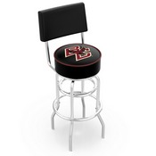 L7C4 - Chrome Double Ring Boston College Swivel Bar Stool with a Back by Holland Bar Stool Company