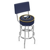 L7C4 - Chrome Double Ring Buffalo Sabres Swivel Bar Stool with a Back by Holland Bar Stool Company