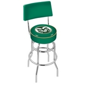 L7C4 - Chrome Double Ring Colorado State Swivel Bar Stool with a Back by Holland Bar Stool Company