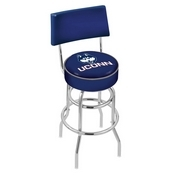 L7C4 - Chrome Double Ring Connecticut Swivel Bar Stool with a Back by Holland Bar Stool Company