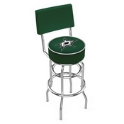L7C4 - Chrome Double Ring Dallas Stars Swivel Bar Stool with a Back by Holland Bar Stool Company