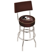 L7C4 - Chrome Double Ring Florida State (Head) Swivel Bar Stool with a Back by Holland Bar Stool Company