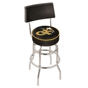 L7C4 - Chrome Double Ring Georgia Tech Swivel Bar Stool with a Back by Holland Bar Stool Company