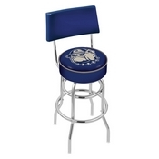 L7C4 - Chrome Double Ring Georgetown Swivel Bar Stool with a Back by Holland Bar Stool Company