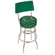 L7C4 - Chrome Double Ring Hawaii Swivel Bar Stool with a Back by Holland Bar Stool Company