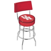 L7C4 - Chrome Double Ring Houston Swivel Bar Stool with a Back by Holland Bar Stool Company