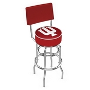 L7C4 - Chrome Double Ring Indiana Swivel Bar Stool with a Back by Holland Bar Stool Company