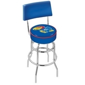 L7C4 - Chrome Double Ring Kansas Swivel Bar Stool with a Back by Holland Bar Stool Company