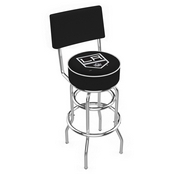 L7C4 - Chrome Double Ring Los Angeles Kings Swivel Bar Stool with a Back by Holland Bar Stool Company