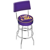 L7C4 - Chrome Double Ring Louisiana State Swivel Bar Stool with a Back by Holland Bar Stool Company