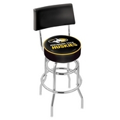 L7C4 - Chrome Double Ring Michigan Tech Swivel Bar Stool with a Back by Holland Bar Stool Company