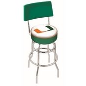 L7C4 - Chrome Double Ring Miami (FL) Swivel Bar Stool with a Back by Holland Bar Stool Company