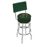 L7C4 - Chrome Double Ring Minnesota Wild Swivel Bar Stool with a Back by Holland Bar Stool Company