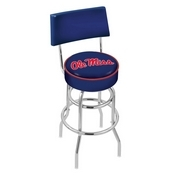 L7C4 - Chrome Double Ring Ole' Miss Swivel Bar Stool with a Back by Holland Bar Stool Company