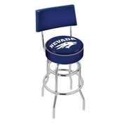 L7C4 - Chrome Double Ring Nevada Swivel Bar Stool with a Back by Holland Bar Stool Company