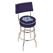 L7C4 - Chrome Double Ring North Carolina Swivel Bar Stool with a Back by Holland Bar Stool Company