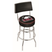 L7C4 - Chrome Double Ring Northern Illinois Swivel Bar Stool with a Back by Holland Bar Stool Company