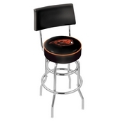 L7C4 - Chrome Double Ring Oregon State Swivel Bar Stool with a Back by Holland Bar Stool Company