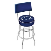 L7C4 - Chrome Double Ring Penn State Swivel Bar Stool with a Back by Holland Bar Stool Company
