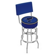 L7C4 - Chrome Double Ring St Louis Blues Swivel Bar Stool with a Back by Holland Bar Stool Company