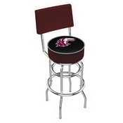 L7C4 - Chrome Double Ring Southern Illinois Swivel Bar Stool with a Back by Holland Bar Stool Company