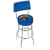 L7C4 - Chrome Double Ring Kentucky Wildcat Swivel Bar Stool with a Back by Holland Bar Stool Company