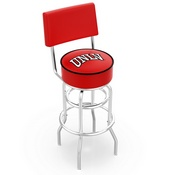 L7C4 - Chrome Double Ring UNLV Swivel Bar Stool with a Back by Holland Bar Stool Company