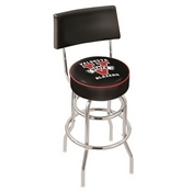 L7C4 - Chrome Double Ring Valdosta State Swivel Bar Stool with a Back by Holland Bar Stool Company