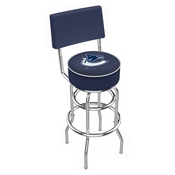 L7C4 - Chrome Double Ring Vancouver Canucks Swivel Bar Stool with a Back by Holland Bar Stool Company
