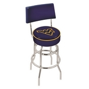L7C4 - Chrome Double Ring West Virginia Swivel Bar Stool with a Back by Holland Bar Stool Company