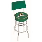 L7C4 - Chrome Double Ring Wright State Swivel Bar Stool with a Back by Holland Bar Stool Company